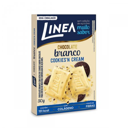 Chocolate Linea Branco Cookies N' Cream Zero Açúcar