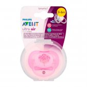 AVENT CHUPETA ULTRA AIR DECORADA ROSA 0 Á 6 MESES