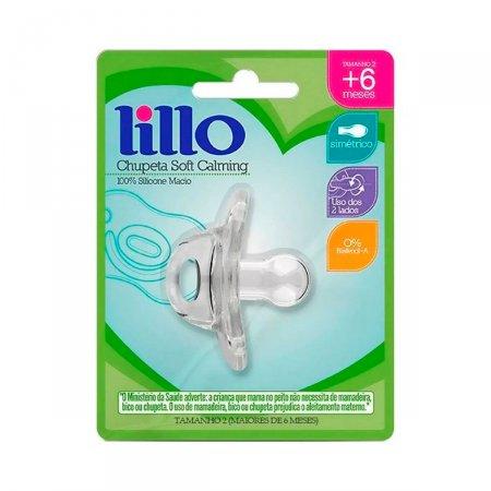 Chupeta de Silicone Lillo Soft Calming Tamanho 2 Transparente