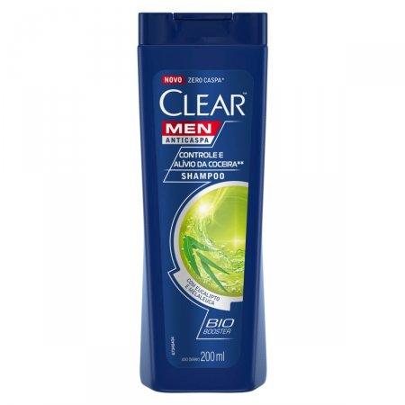 Shampoo Anticaspa Clear Men Controle e Alívio da Coceira 200ml | Drogasil,com Foto 1
