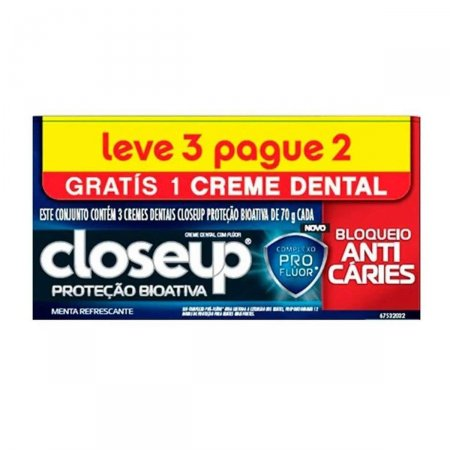Kit Creme Dental Close Up Proteção Bioativa