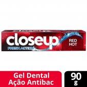 Creme Dental em Gel Close up Fresh Action Red Hot