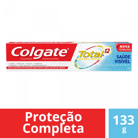 COLGATE CREME DENTAL TOTAL 12 SAUDE VISIVEL 133G