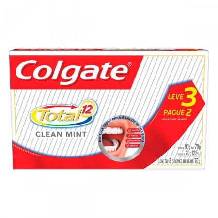 Kit Colgate Creme Dental Total 12 Clean Mint