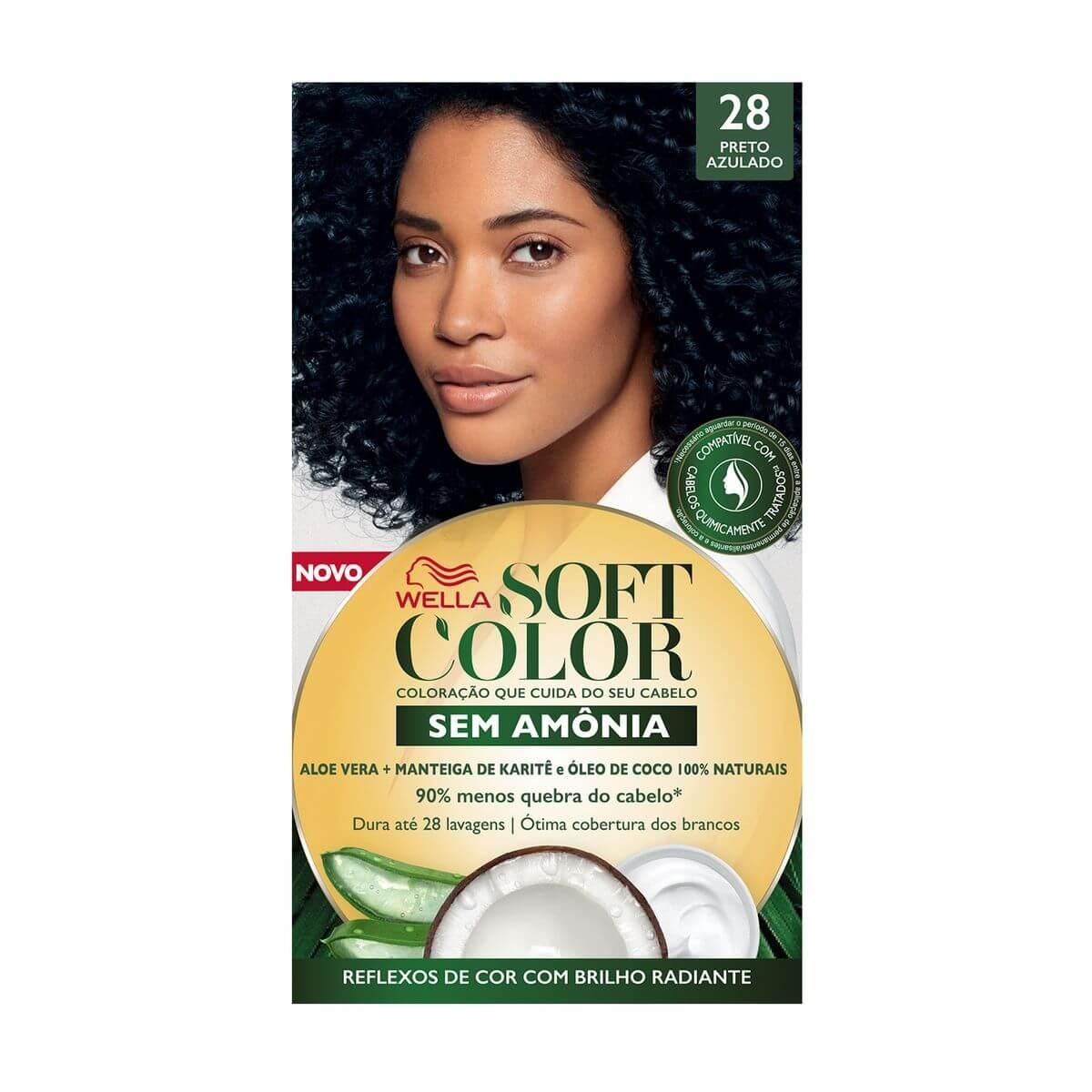 Coloração Soft Color Nº28 Preto Azulado 1 Unidade Wella 1 Unidade