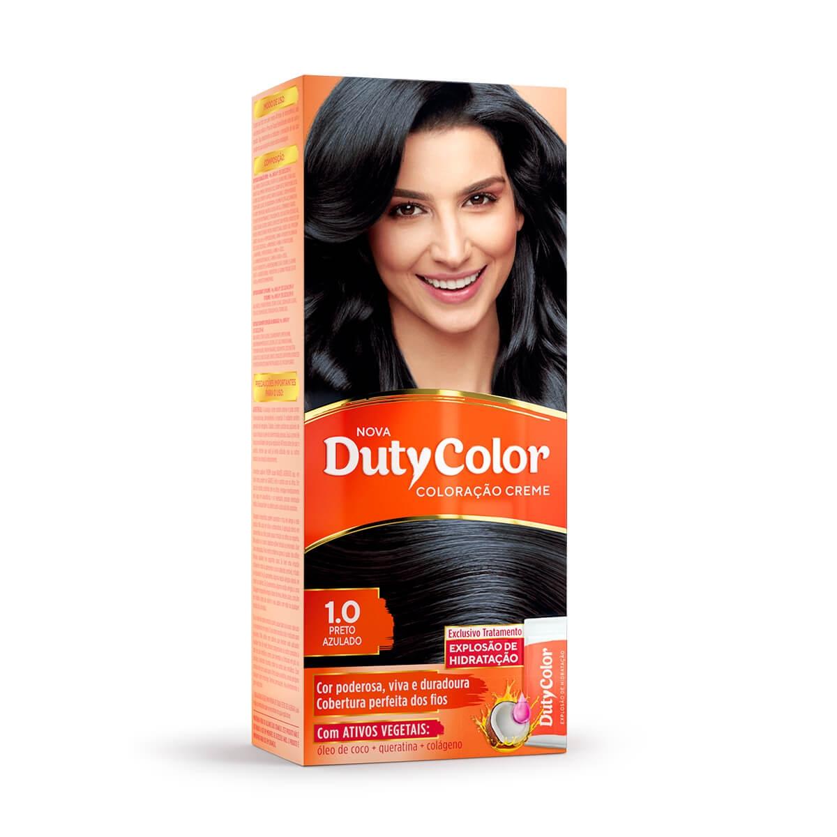 Coloração Creme DutyColor 1.0 Preto Azulado 1 Unidade