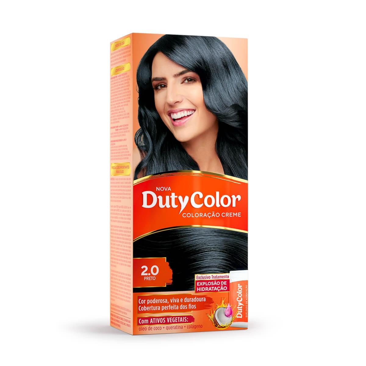 Coloração Creme DutyColor 2.0 Preto 1 Unidade