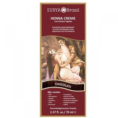 Coloração Semipermanente Henna Creme Chocolate