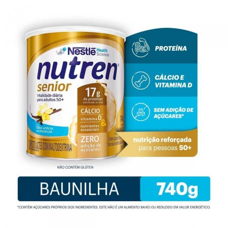 NUTREN SENIOR BAUNILHA LATA 740G