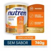 Complemento Alimentar Nutren Senior 50+ Sem Sabor Zero Lactose com 740g
