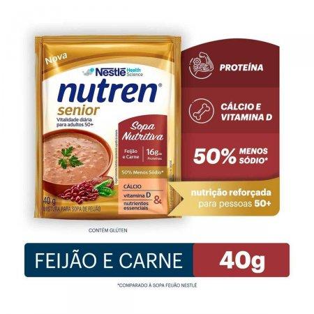 Complemento Alimentar Nutren Senior Sopa Nutritiva Feijão e Carne 40g |
