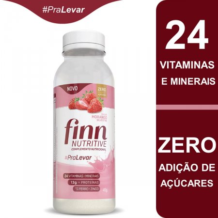 FINN NUTRITIVE GARRAFA MORANGO 46G