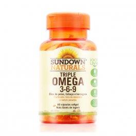Complexo Vitamínico Sundown Triple Ômega 3-6-9 com 60 Cápsulas