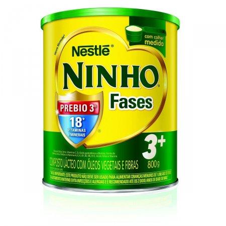 Composto Lácteo NINHO Fases 3+ 800g | Drogasil.com Foto 1