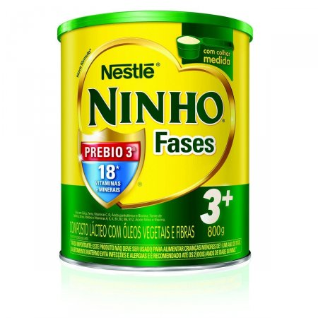 NINHO LEITE INFANTIL CRESCIMENTO FASES 3+ 800G