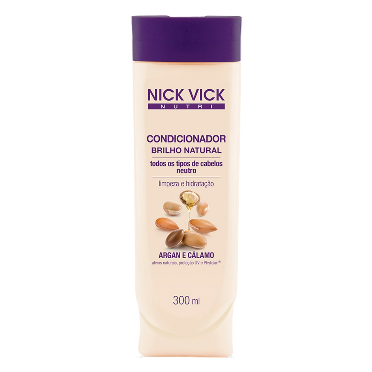 Condicionador Nick e Vick Nutri Brilho Natural 300ml