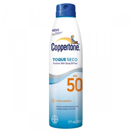 Protetor Solar Toque Seco Coppertone Spray FPS50