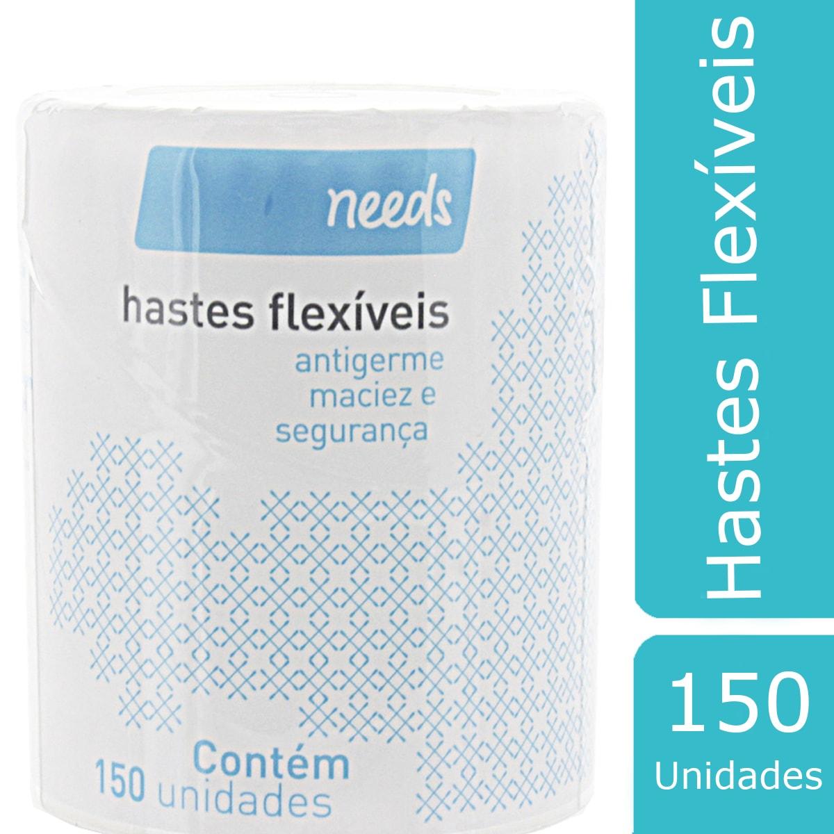 Hastes Flexíveis Needs Pote 150 Unidades