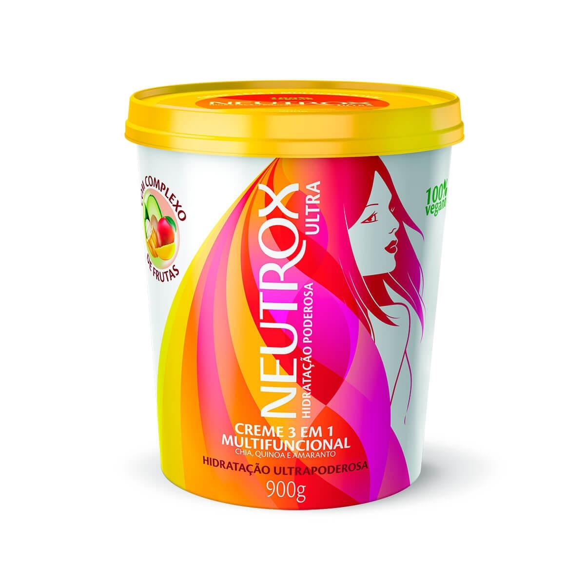 Creme 3 em 1 Multifuncional Neutrox Hidratação Ultrapoderosa 100% Vegano com 900g 900g
