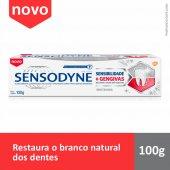 Pasta de Dente Sensodyne Sensibilidade & Gengivas Whitening com 100g