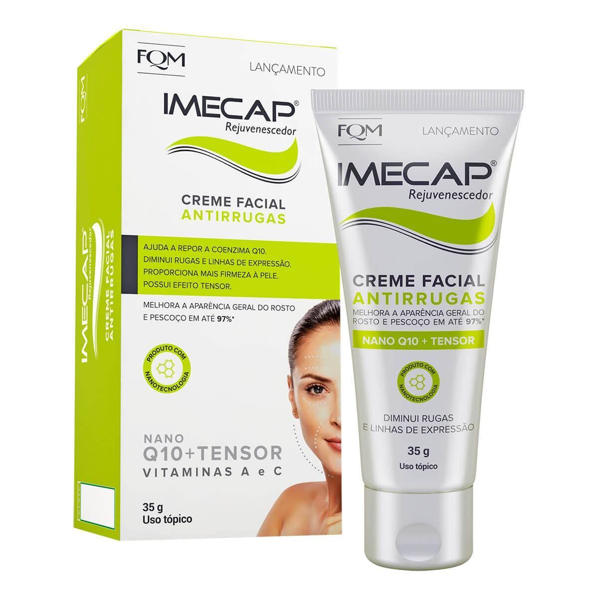 Creme Facial Antirrugas Imecap Rejuvenescedor 35g