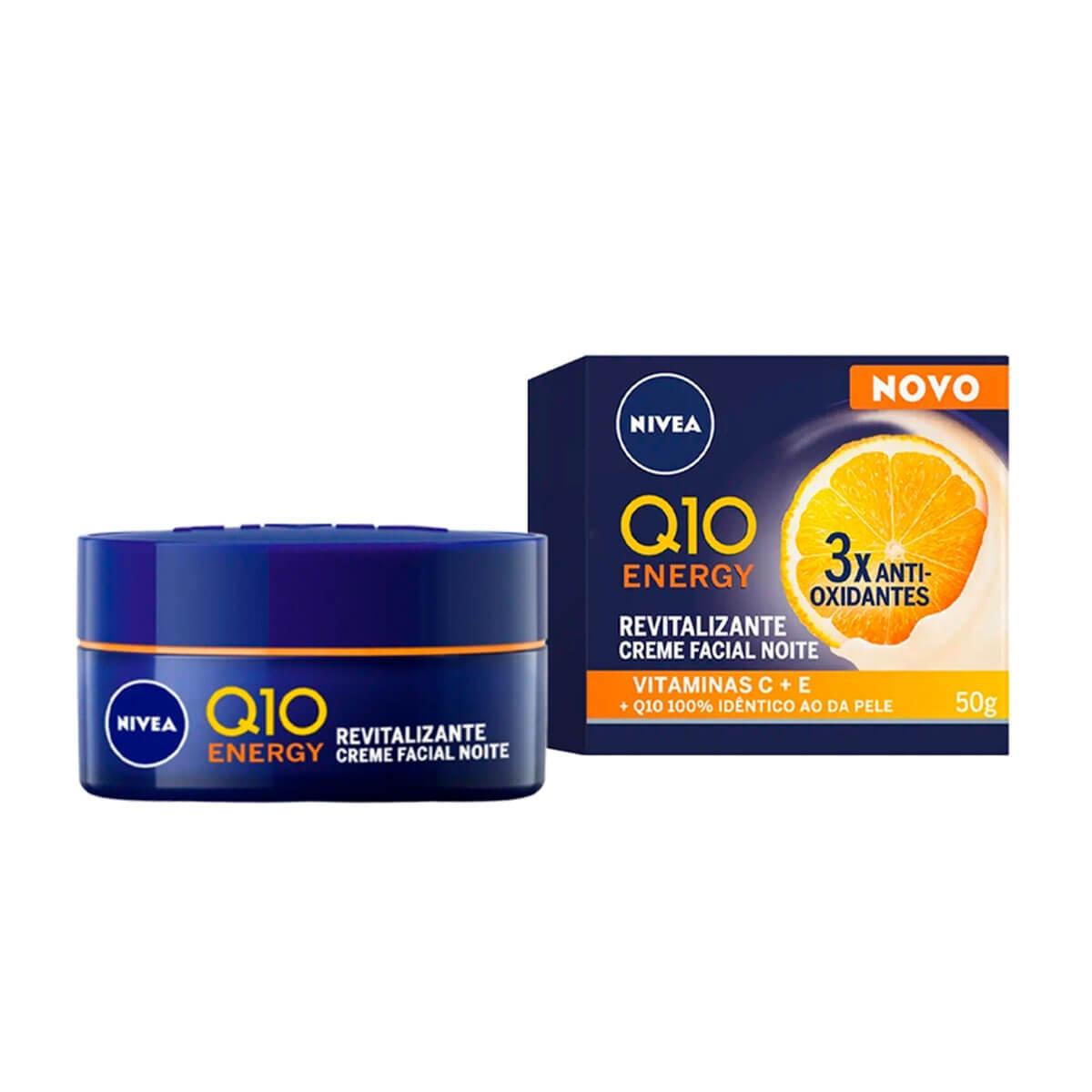 Creme Facial Antissinais Noite Nivea Q10 Plus C com 50g 50g