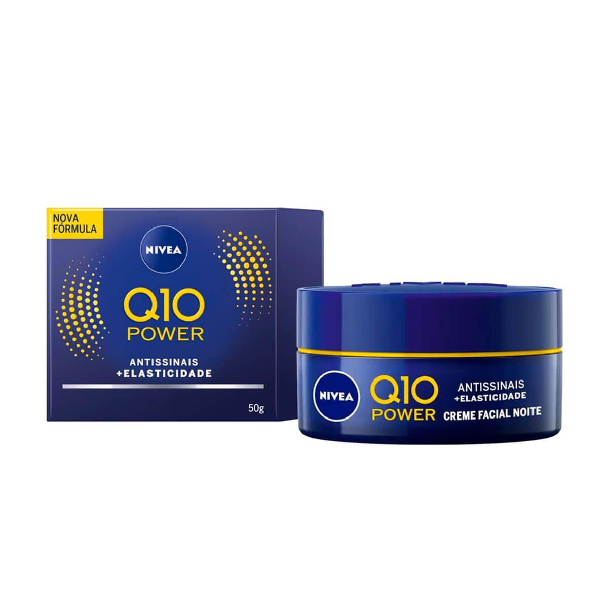 Creme Facial Antissinais Noite Nivea Q10 Plus com 50ml 50ml