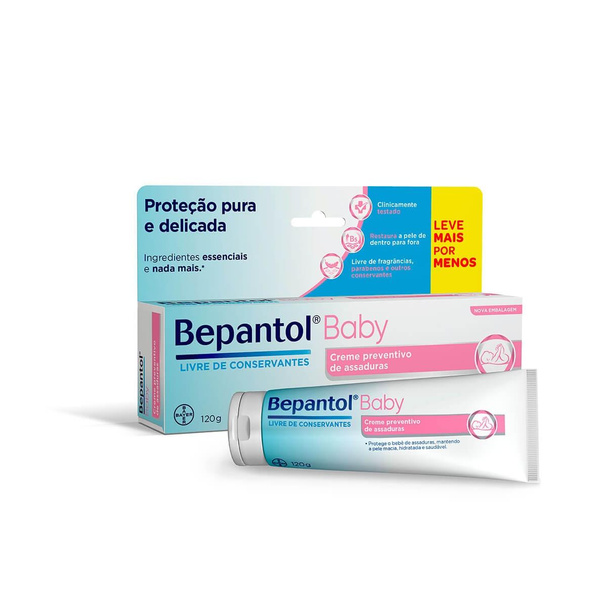 Creme Preventivo de Assaduras Bepantol Baby com 120g 120g