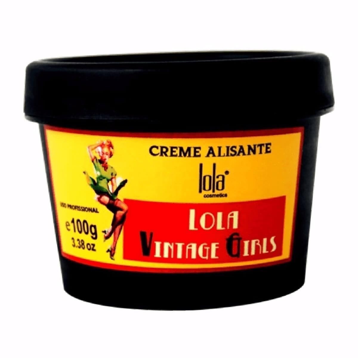 Creme Capilar Alisante Lola Hair Vintage Girls com 100g 100g
