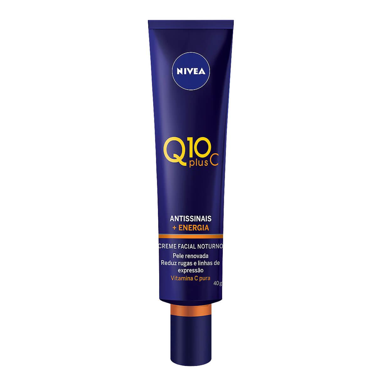 Creme Facial Noturno Antissinais Nivea Q10 Plus C com 40ml 40ml