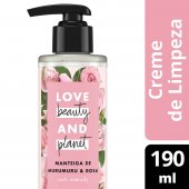 LOVE, BEAUTY AND PLANET CREME DE LIMPEZA CURLS INTENSIFY MANTEIGA DE MURUMURU & ROSA FRASCO 190ML