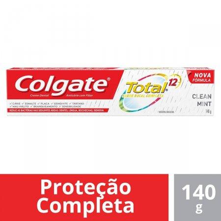 COLGATE CREME DENTAL TOTAL 12 CLEAN MINT 140G