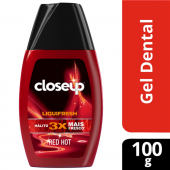 CLOSE UP CREME DENTAL LIQUI FRESH RED HOT 100G