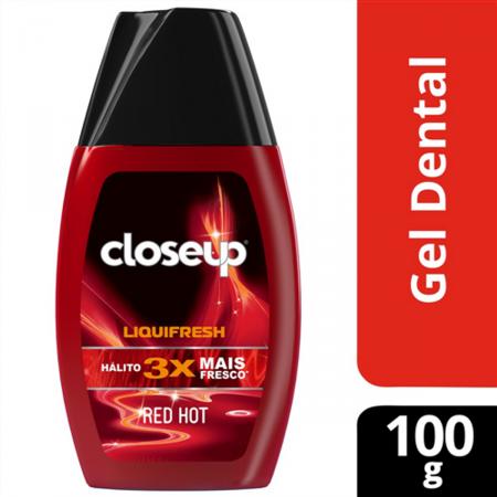 CLOSE UP CREME DENTAL LIQUI FRESH RED HOT 100G