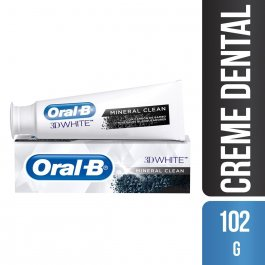 Pasta de Dente Oral-B 3D White Mineral Clean com 102g