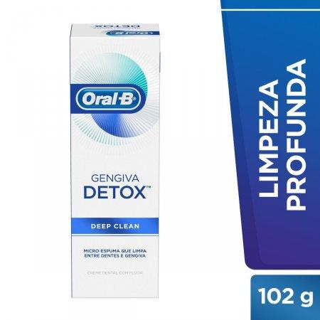 ORAL B CREME DENTAL GENGIVA DETOX DEEP CLEAN 102G