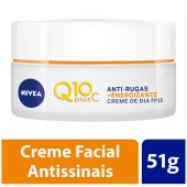 Creme Facial Antissinais Dia Nivea Q10 Plus C FPS15