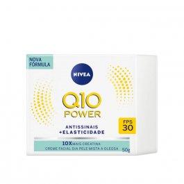 Creme Facial Dia Antissinais Nivea Q10 Plus Pele Mista a Oleosa FPS 30 com 50ml