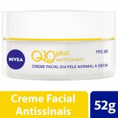 Creme Facial Antissinais Dia Nivea Q10 Plus Pele Normal a Seca FPS30