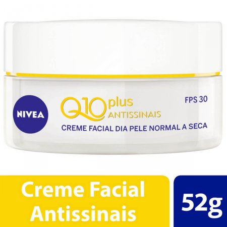 Creme Facial Antissinais Dia Nivea Q10 Plus Pele Normal a Seca FPS30