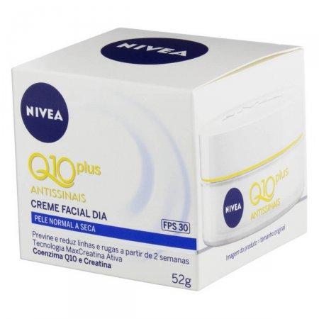 Nivea Q10 Plus Creme Facial Antissinais Dia Pele Normal a Seca FPS30 50ml | Drogasil.com Foto 4