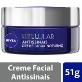 Creme Facial Antissinais Noite Nivea Cellular