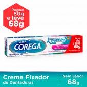 Fixador de Dentadura Ultra Corega Creme Leve 68g Pague 50g