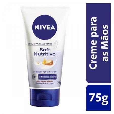 NIVEA HAND CREME NUTRITIVO CUIDADO INTENSIVO SUAVIZA E HIDRATA MAOS E CUTICULAS RESSECADAS 75G