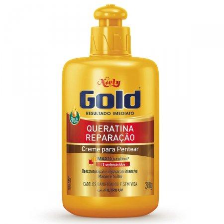 Creme de Pentear Niely Gold Queratina Reparação