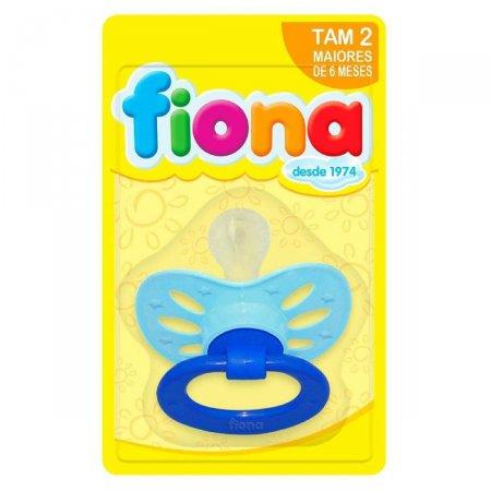 Chupeta Clássica Fiona Orto Silicone Tamanho 2 Azul