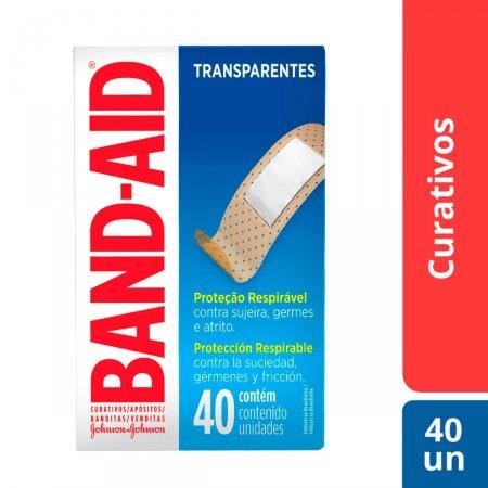 BAND AID CURATIVOS TRANSPARENTE 40 UNIDADES