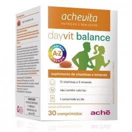 Suplemento de Vitaminas e Minerais Dayvit Balance com 30 comprimidos