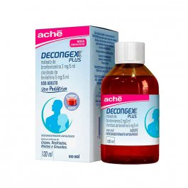 Decongex Plus 2mg/5ml + 5mg/5ml Xarope Pediátrico com 120ml