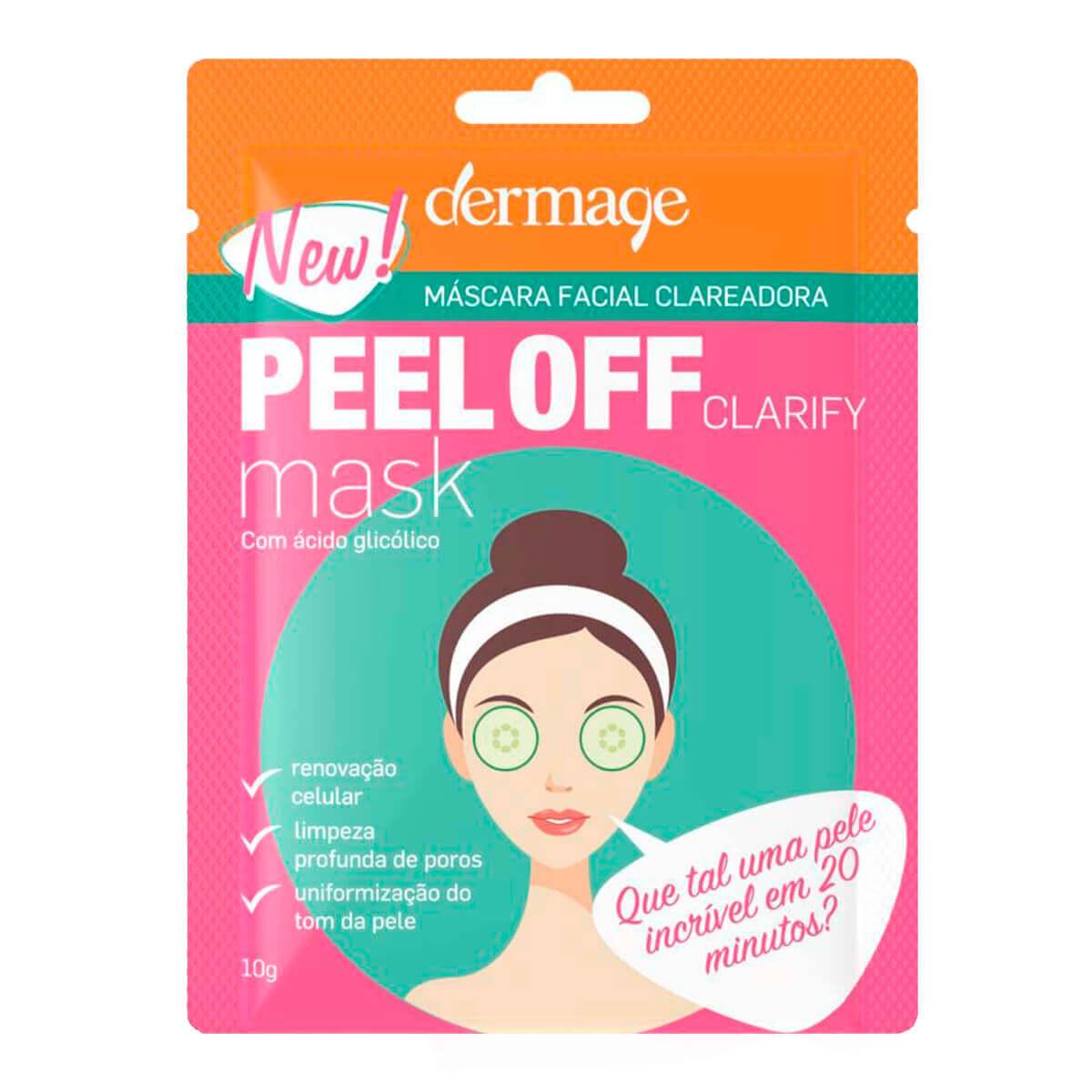 Máscara Facial Clareadora Dermage Peel Off Clarify com 10g 10g